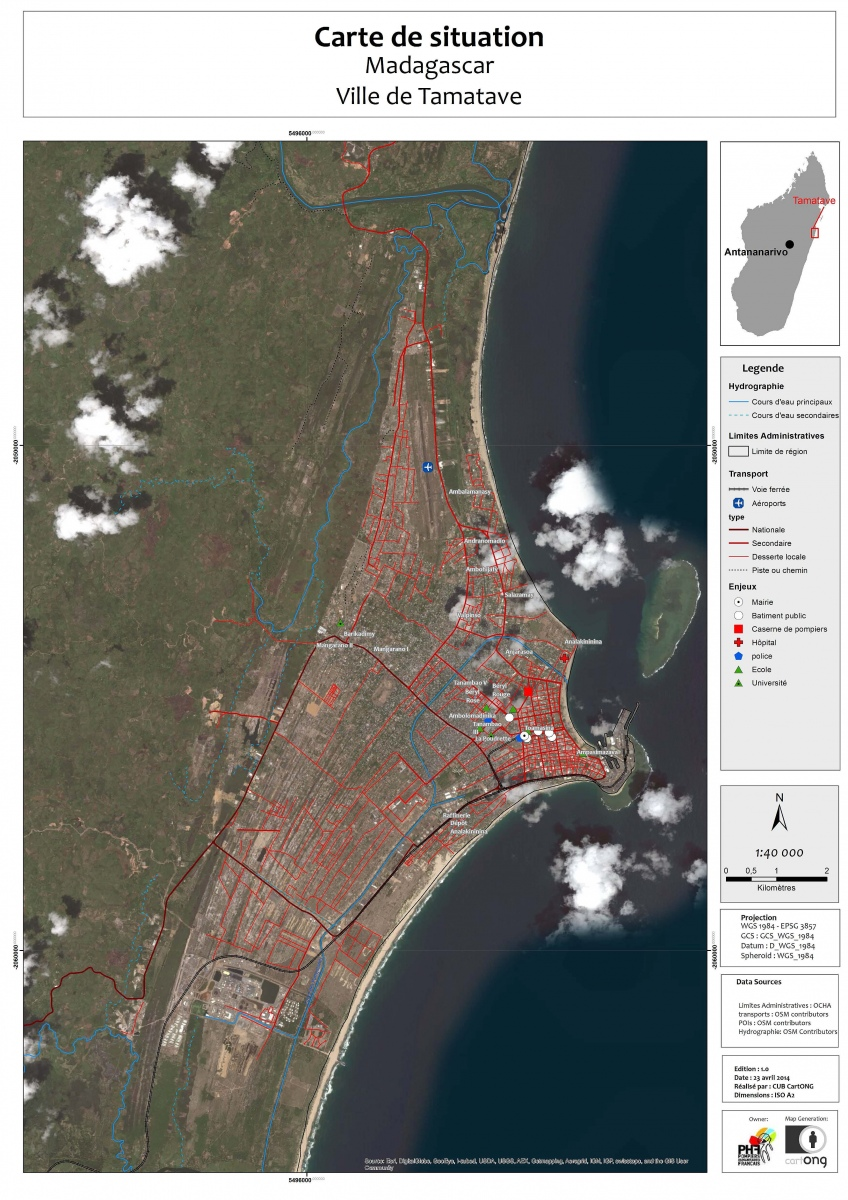 Carte Tamatave Satellite